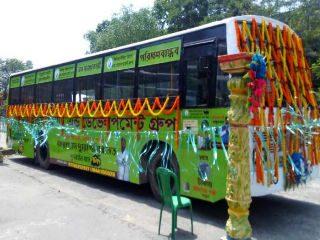 कोलकातामध्ये १ रुपये तिकीट असणारी गोबर गॅसच्या साहाय्याने चालणारी बससेवा चालू !